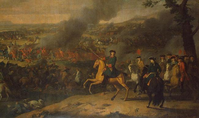 Пётр Первый в Полтавской битве» (1718) французский художник Луи Каравак