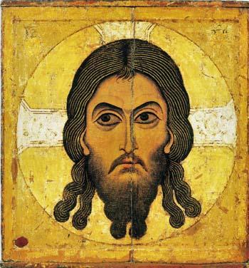 Спас Нерукотворный Новгородская икона XII в.